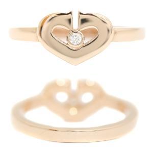 カルティエ K18 PG Cハート ダイヤ リング #48 約9号 ジュエリー 指輪 中古 Cartier 送料無料|goldeco|03