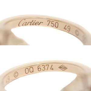 カルティエ K18 PG Cハート ダイヤ リング #48 約9号 ジュエリー 指輪 中古 Cartier 送料無料|goldeco|04