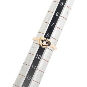 カルティエ K18 PG Cハート ダイヤ リング #48 約9号 ジュエリー 指輪 中古 Cartier 送料無料|goldeco|05