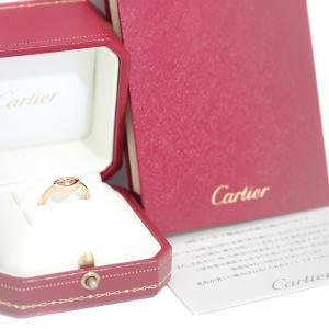 カルティエ K18 PG Cハート ダイヤ リング #48 約9号 ジュエリー 指輪 中古 Cartier 送料無料|goldeco|06