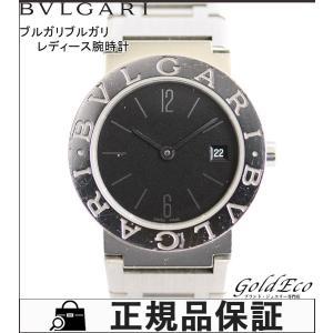 ブルガリ ブルガリブルガリ レディース 腕時計 クォーツ BB26SS ステンレス シルバー ブラック文字盤 ウォッチ デイト表示 日付け表示 電池式 中古 BVLGARI|goldeco