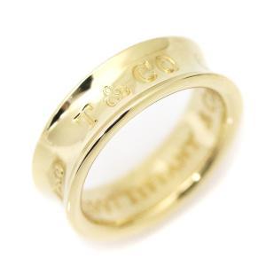 送料無料 新品仕上げ済み Tiffany&Co ティファニー 1837 リング レディース 指輪 K18YG 750イエローゴールド ジュエリー 約9.5号 中古 goldeco
