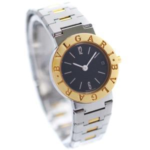 ブルガリ ブルガリブルガリ 腕時計 レディース クオーツ ブラック文字盤 コンビカラー BB23SGD 中古 送料無料 BVLGARI goldeco