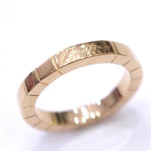 新品仕上げ済み カルティエ ラニエールリング レディース ピンクゴールド ジュエリー 指輪 K18 PG #48 約8号 750 中古 Cartier 送料無料|goldeco