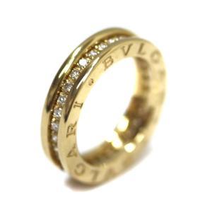 ブルガリ B-Zero1 ビーゼロワン リング・指輪 ユニセックス K18イエローゴールド ダイヤモンド ジュエリー 8号 ゴールド 中古 送料無料 BVLGARI goldeco