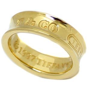送料無料 新品仕上げ済み 美品 Tiffany&Co ティファニー 1837 ナロー リング 指輪 レディース K18YG 750 ブランドジュエリー イエローゴールド 約9号 中古|goldeco