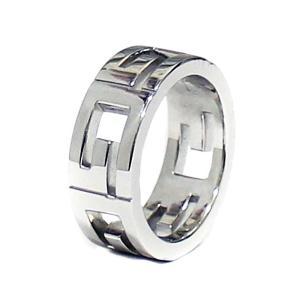 新品仕上げ済み グッチ Gロゴ マルチプル  リング・指輪 レディース K18ホワイトゴールド ジュエリー 9.5号 WG 中古 送料無料 GUCCI|goldeco