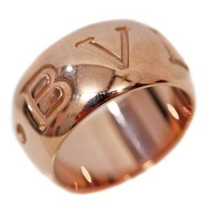 新品仕上げ済み ブルガリ モノロゴ リング・指輪 ユニセックス K18ピンクゴールド 12.5号 ピンクゴールド 中古 送料無料 BVLGARI goldeco