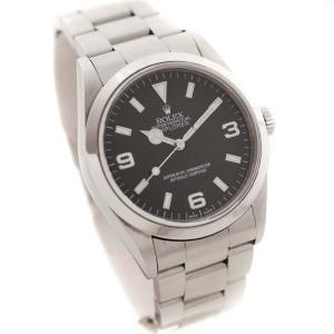ロレックス エクスプローラー1 腕時計 メンズ 自動巻き ブラック文字盤 シルバー ref.14270 A番 中古 送料無料 ROLEX|goldeco