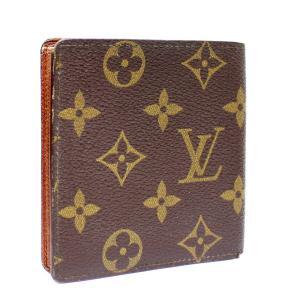 ルイ ヴィトン 札入れ カードケース モノグラム ポルト ビエ 6 カルト クレディ 二つ折り財布 ユニセックス PVC レザー 茶色 M60929 中古  LOUIS VUITTON|goldeco