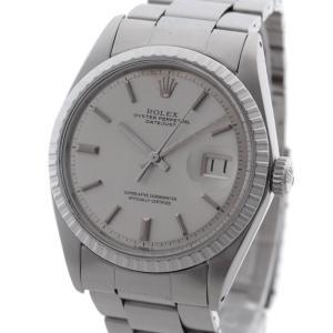新品仕上げ オーバーホール済 ロレックス デイトジャスト メンズ 腕時計 ステンレススチール シルバー 自動巻き アンティーク 1603 中古 ROLEX 送料無料|goldeco