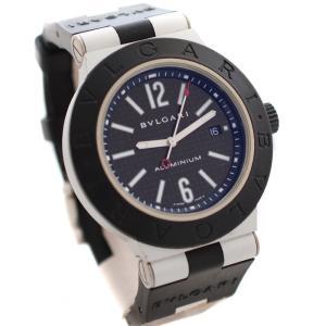 ブルガリ アルミニウム 腕時計 メンズ 自動巻き カーボン アラビアン文字盤 ブラック シルバー AL44TA 中古 送料無料 BVLGARI|goldeco