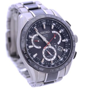 セイコー アストロン GPS ソーラー 腕時計 メンズ ソーラー電波時計 ブラック文字盤 ブラック シルバー 8X53-0AB0-2 中古 送料無料 SEIKO|goldeco