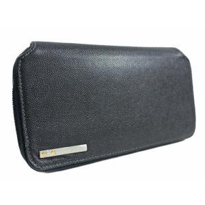 カルティエ サントス ラウンドファスナー 長財布 メンズ レザー ブラック L3000942 中古 送料無料 CARTIER|goldeco