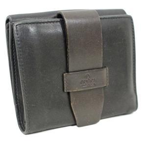 グッチ ベルトデザイン 二つ折り財布 ユニセックス レザー ダークブラウン 101566・0959 中古  GUCCI|goldeco