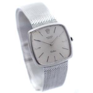 ロレックス チェリーニ アンティーク 腕時計 メンズ 手巻き シルバー文字盤 1968年頃製造 中古 送料無料 ROLEX|goldeco