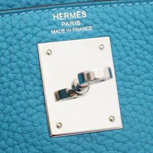 エルメス ケリー28 ハンドバッグ レディース トゴ レザー ブルー □R刻印 中古 送料無料 HERMES goldeco 15