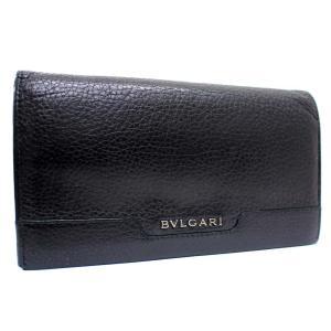 ブルガリ 二つ折り アーバン 長財布 メンズ レザー ブラック 33402 中古 送料無料 BVLGARI goldeco