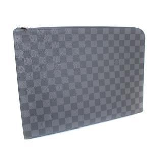未使用品 ルイ ヴィトン ポシェット・ジュール GM NM クラッチバッグ メンズ ダミエグラフィットキャンバス グレー N64437 中古 送料無料 LOUIS VUITTON|goldeco
