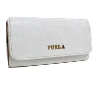 フルラ 6連 ロゴ キーケース レディース 型押しレザー ホワイト 中古  Furla|goldeco