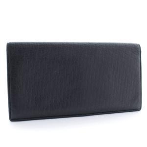 ディオール・オム ロゴ型押し 2つ折り 札入れ メンズ レザー ブラック 中古 送料無料 DIOR HOMME|goldeco