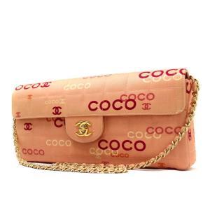 シャネル チョコバー ショルダーバッグ レディース キャンバス ピンク A15316 中古 送料無料 CHANEL|goldeco
