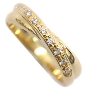 新品仕上げ済み タサキ ダイヤモンド デザイン リング・指輪 レディース K18イエローゴールド ジュエリー 10.5号 ゴールド 中古 送料無料 TASAKI|goldeco