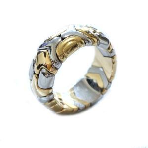 BVLGARI ブルガリ パレンテシリング レディース 指輪 約12号 K18YG×SS イエローゴールド ジュエリー 新品仕上げ済み 中古 goldeco