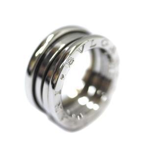 新品仕上げ済み ブルガリ ビーゼロワン リング・指輪 ユニセックス K18ホワイトゴールド ジュエリー 8号 シルバー 中古 送料無料 BVLGARI goldeco