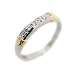 新品仕上げ済み クリスチャンディオール ダイヤ コンビ リング・指輪 レディース ダイヤモンド ジュエリー 10.5号 プラチナ 中古 送料無料 Christian Dior|goldeco