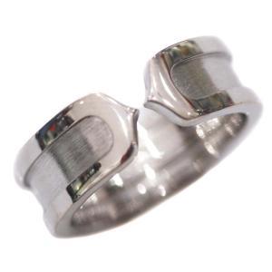 新品仕上げ済み カルティエ C2 リング・指輪 レディース K18ホワイトゴールド 11号 750WG 中古 送料無料 CARTIER|goldeco
