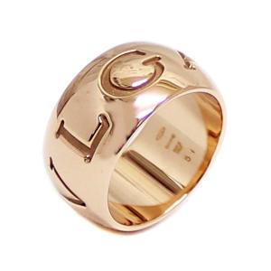 新品仕上げ済み ブルガリ モノロゴ リング・指輪 レディース K18ピンクゴールド ジュエリー 10号 PG 中古 送料無料 BVLGARI goldeco