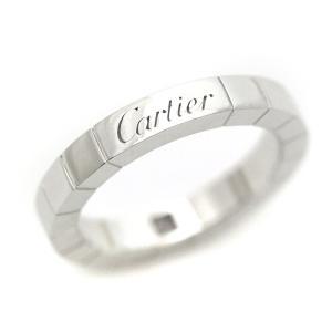 Cartier カルティエ ラニエール 1P ダイヤモンド リング レディース 指輪 約8号 #48 K18WG 750 ホワイトゴールド ブランドジュエリー 新品仕上げ済み 中古|goldeco