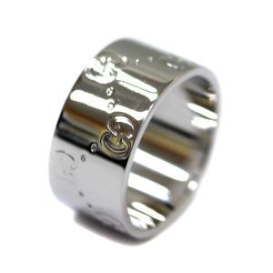 新品仕上げ済み グッチ GGアイコン  ワイドリング  リング・指輪 ユニセックス K18ホワイトゴールド ジュエリー 10.5号 ホワイトゴールド 中古 送料無料 GUCCI goldeco