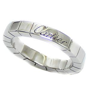 送料無料 新品仕上げ済み Cartier カルティエ ラニエール リング レディース K18WG 750 指輪 ブランドジュエリー ホワイトゴールド #47 約7号 美品 ヘッド 中古|goldeco