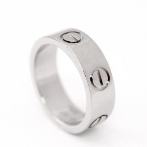 新品仕上げ済み カルティエ ラブリング レディース メンズ ユニセックス ジュエリー K18WG ホワイトゴールド 指輪 #47 約7号 750 中古 Cartier 送料無料|goldeco
