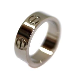 新品仕上げ済み カルティエ ラブリング リング・指輪 ユニセックス K18ホワイトゴールド ジュエリー 7号 ホワイトゴールド 中古 送料無料 CARTIER|goldeco