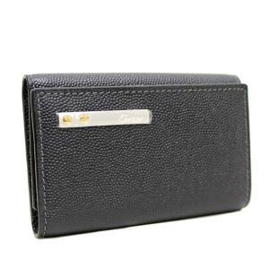 未使用品 カルティエ 6連 サントス キーケース メンズ 型押しレザー ブラック  L3000775 中古 送料無料 CARTIER|goldeco