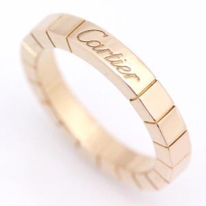 送料無料 新品仕上げ済み Cartier カルティエ ラニエールリング レディース 指輪 K18PG 750ピンクゴールド ジュエリー #49 約9号 中古 goldeco