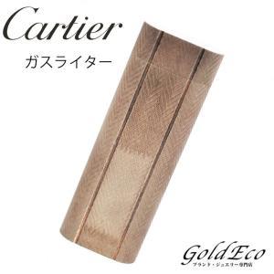 カルティエ W柄 ガスライター 着火未確認品 オーバル 喫煙具 シルバー 中古 Cartier|goldeco