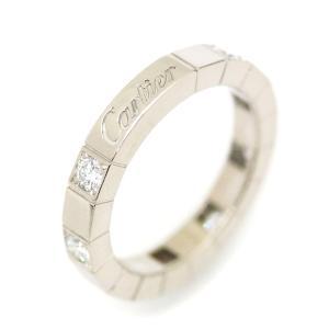 新品仕上げ済み Cartier カルティエ ダイヤモンド ラニエールリング レディース 指輪 K18WG 750ホワイトゴールド ハーフダイヤ 8PD ジュエリー #47 約7号 中古 goldeco