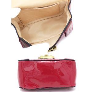 クロエ エルシー チェーン ショルダーバッグ パテントレザー レッド×ゴールド金具 ショルダーポーチ 斜め掛け レディース 中古 Chloe 送料無料|goldeco|03