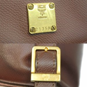 MCM エムシーエム 型押しレザー ミニリュックサック 2135 ゴールド金具 バックパック 中古|goldeco|05