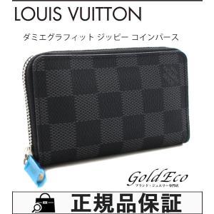 超美品 ルイ ヴィトン ダミエ グラフィット ジッピー コインパース N63076 ダミエキャンバス/グレー系 コインケース 小銭入れ メンズ 中古 LOUIS VUITTON|goldeco