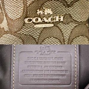 送料無料 COACH コーチ シグネチャー ミニターンロック リュックサック 37979 レディース バックパック 中古|goldeco|04