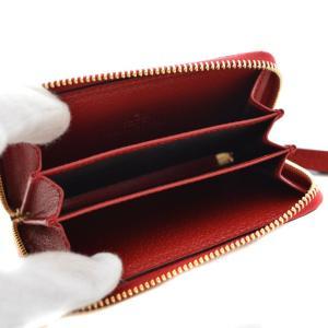 未使用品 GUCCI グッチ GGスプリーム ティアン カードケース コインケース 財布 レディース PVC ベージュ(エボニー)/レッド バード 424897 中古|goldeco|04
