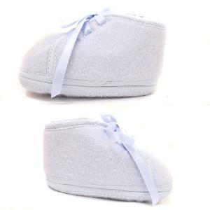 未使用 エルメス ベビーシューズ メンズ レディース 靴 ファーストシューズ ウール スカイブルー 水色 中古 HERMES|goldeco|03