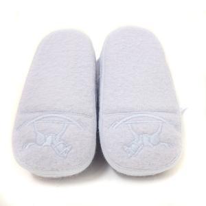 未使用 エルメス ベビーシューズ メンズ レディース 靴 ファーストシューズ ウール スカイブルー 水色 中古 HERMES|goldeco|04