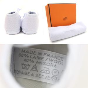 未使用 エルメス ベビーシューズ メンズ レディース 靴 ファーストシューズ ウール スカイブルー 水色 中古 HERMES|goldeco|05