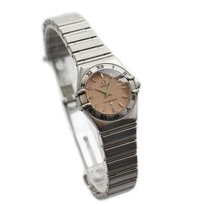 OMEGA オメガ コンステレーション レディース腕時計 ピンク文字盤 ウォッチ クォーツ 電池式 リーフインデックス ギョーシェ ステンレス シルバー 中古|goldeco